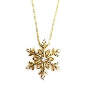 Jewelry - Beautiful cubic zirconia snow shape ( Christmas)
